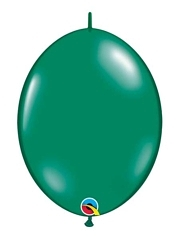 "Qualatex 6"" Emerald Green Quicklink Balloons"