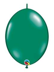 "Qualatex 6"" Emerald Green Quicklink Balloons"
