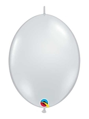 "Qualatex 6"" Diamond Clear Quicklink Balloons"