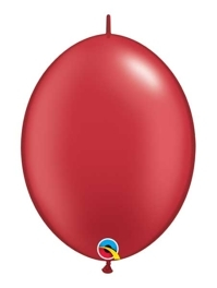 """Qualatex 6"""" Pearl Ruby Red Quicklink Balloons"""