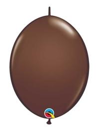 "Qualatex 6"" Chocolate Brown Quicklinks Balloons"