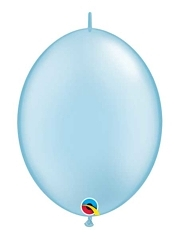 "Qualatex 6"" Pearl Light Blue Quicklink Balloons"