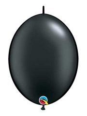 "Qualatex 6"" Pearl Onyx Black Quicklink Balloons"