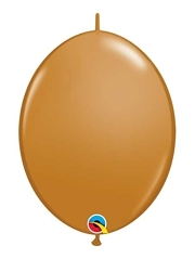 "Qualatex 6"" Mocha Brown Quicklink Balloons"