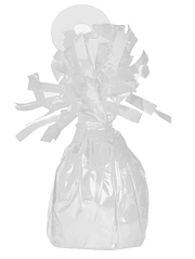 49372 White Foil Balloon Weights