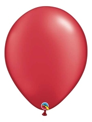"Qualatex 16"" Pearl Ruby Red Latex Balloons"