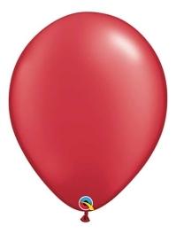"Qualatex 16"" Pearl Ruby Red Latex Balloons"