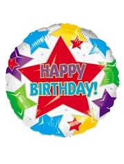 "18"" Star Birthday Balloon"