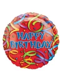 "18"" Birthday Streamers Balloon"