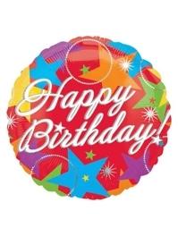 "18"" Bursting Birthday Stars Balloon"