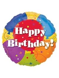 """18"""" Happy Birthday Balloons Balloon"""