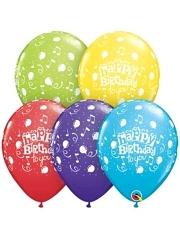 "11"" Happy Birthday To You Latex Balloons"