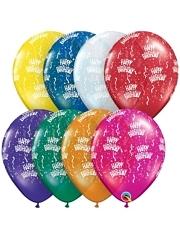 "11"" Birthday Around Jewel Assortment Balloons"