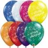 "11"" Birthday Confetti Latex Balloons"