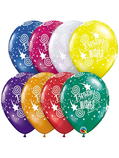 11 Birthday Wishes Balloons Helium Air 50ct Q12567 MF64494