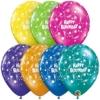 "11"" Birthday Sparkling Latex Balloons"