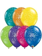"11"" Birthday Stars Latex Balloons"