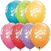 "11"" Birthday Candy A Round Latex Balloons"