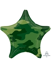 "18"" Camouflage Star Balloon"
