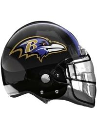 """22"""" Baltimore Ravens NFL Team Helmet Shape Balloon"""