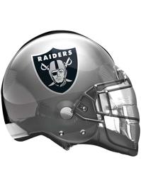 """22"""" Oakland Raiders NFL Team Helmet Shape Balloon"""