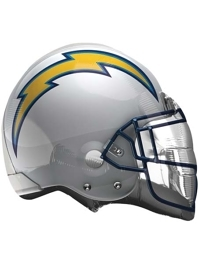 """22"""" Los Angeles Chargers NFL Team Helmet Shapte Balloon"""