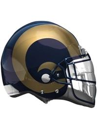 """22"""" Los Angeles Rams NFL Team Helmet Shape Balloon"""