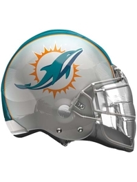 "22"" Miami Dolphins NFL Team Helmet Shape Balloon"