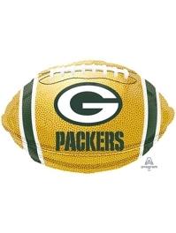 "18"" Green Bay Packers NFL Team Football Shape Balloon"