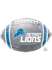 "18"" Detroit Lions NFL Team Football Shape Balloon"
