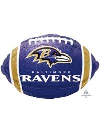 "18"" Baltimore Ravens NFL Team Football Shape Balloon"