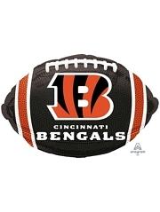 "18"" Cincinatti Bengals NFL Team Football Shape Balloon"