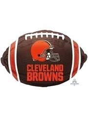 "18"" Cleveland Browns NFL Team Football Shape Balloon"