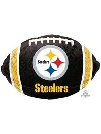 "18"" Pittsburgh Steelers NFL Team Football Shape Balloon"