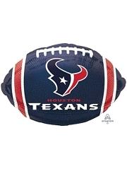 "18"" Houston Texans NFL Team Football Shape Balloon"