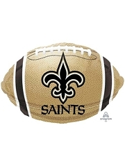 "18"" New Orleans Saints NFL Team Football Shape Balloon"