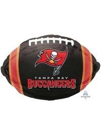 """18"""" Tampa Bay Buccaneers NFL Team Football Shape Balloon"""