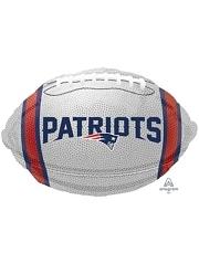 "18"" New England Patriots NFL Team Football Shape Balloon"