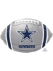 "18"" Dallas Cowboys NFL Team Football Shape Balloon"