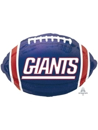 "18"" New York Giants NFL Team Football Shape Balloon"