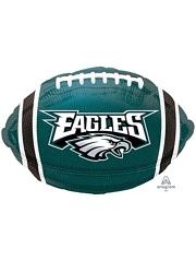 "18"" Philadelphia Eagles NFL Team Football Shape Balloon"