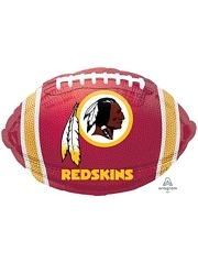 "18"" Washington Redskins NFL Team Football Shape Balloon"