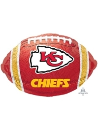 "18"" Kansas City Chiefs NFL Team Football Shape Balloon"