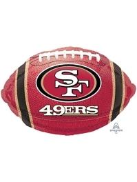 "18"" San Francisco 49ers NFL Team Football Shape Balloon"