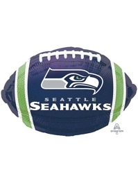 "18"" Seattle Seahawks NFL Team Football Shape Balloon"