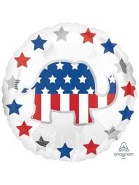 """18"""" Election Republican Patriotic Balloon"""