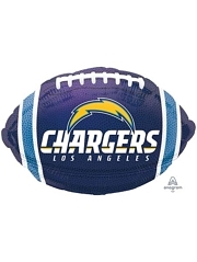 "18"" Los Angeles Chargers NFL Team Football Shape Balloon"