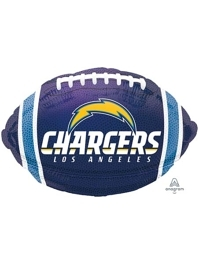 """18"""" Los Angeles Chargers NFL Team Football Shape Balloon"""