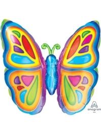 "25"" Bright Butterfly Balloon"