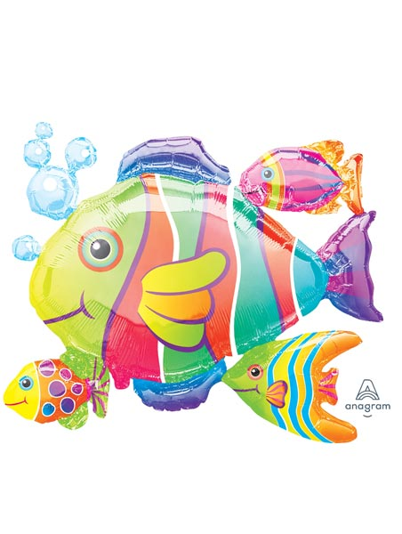 """24"""" Tropical Fish Cluster Balloon"""